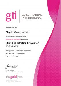 COVID-19 Infection Prevention and Control - GTi Certificate